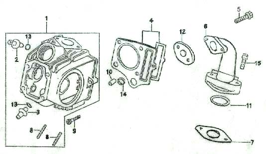 chinese atv 110 wiring diagram wd 110copy dirt bike